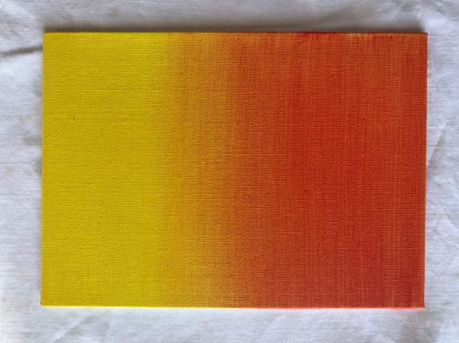 Dégradé de couleurs à l'acrylique du jaune au orange