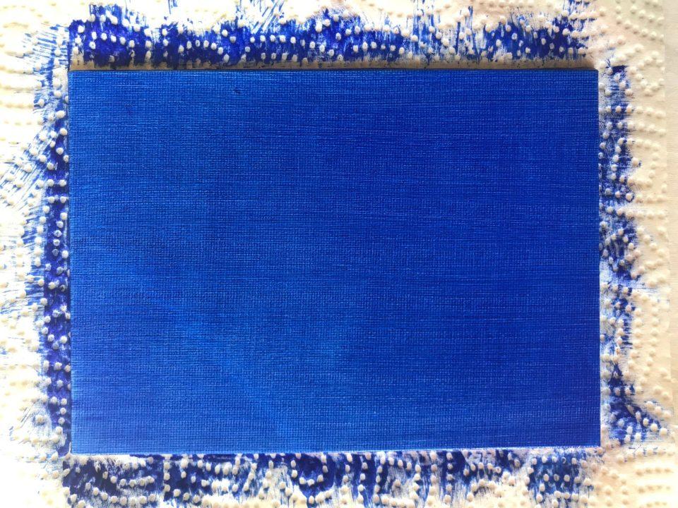 Fond Bleu Outremer uni et bien sec