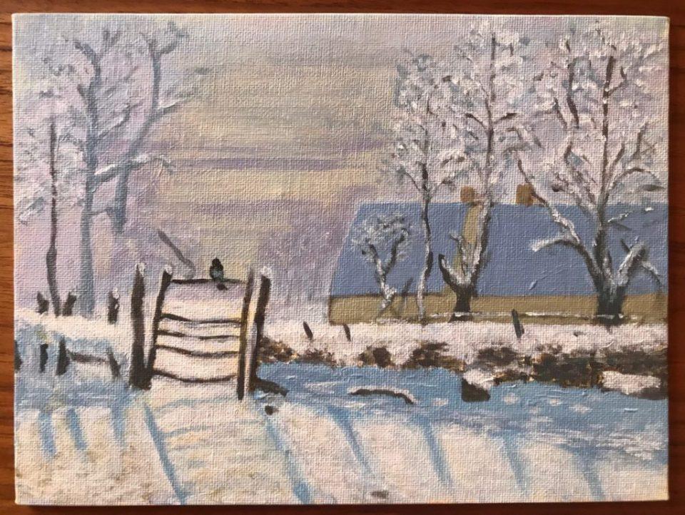 La pie - Reproduction d'après Claude Monet