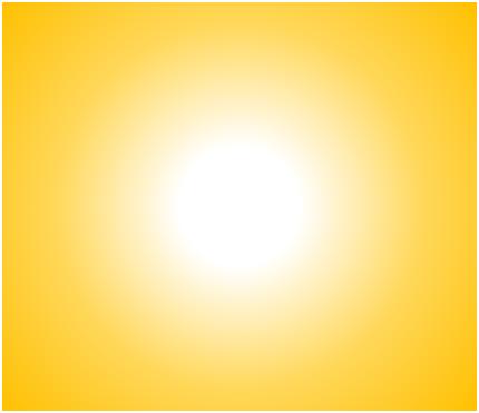Rayonnement solaire, dégradé radial en partant du centre