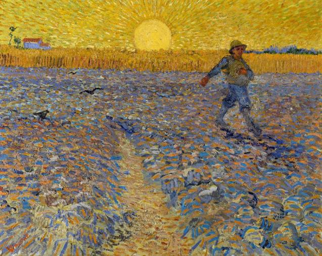 Le semeur de Vincent Van Gogh reflète bien son style artistique