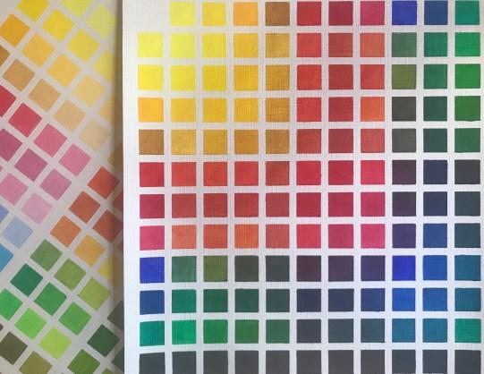 nuancier mélange de couleurs