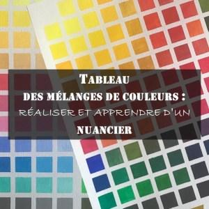 Réalisation d'un nuancier de couleurs ou tableau des mélanges de couleurs et son analyse