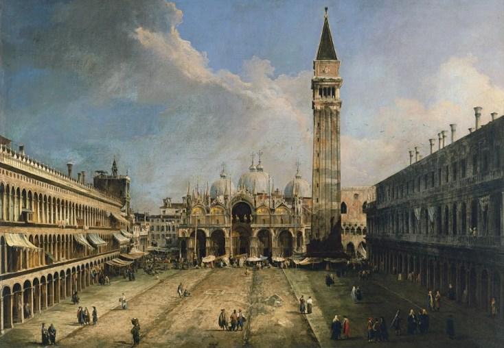 Place Saint-Marc de Venise - Canaletto - vers 1723 - 1724