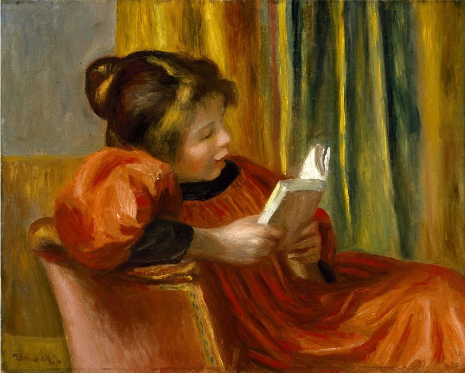 jeune fille lisant renoir