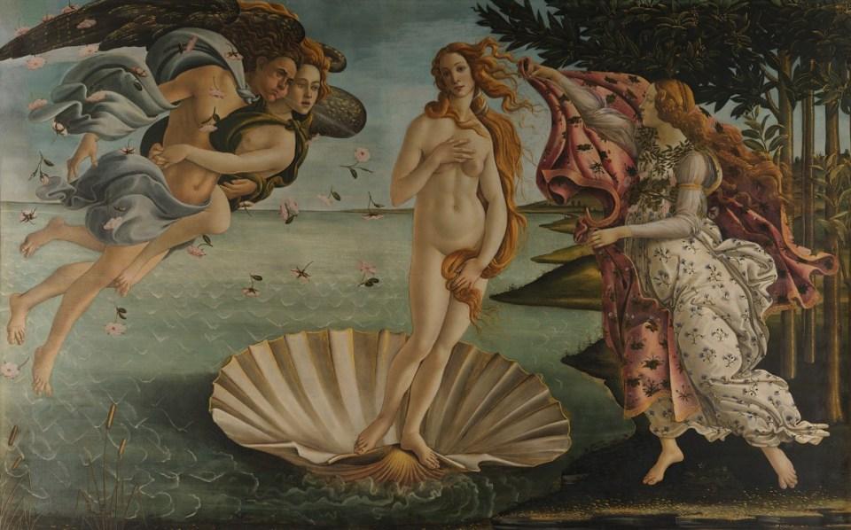 La naissance de Vénus - Sandro Botticelli - 1483/1485