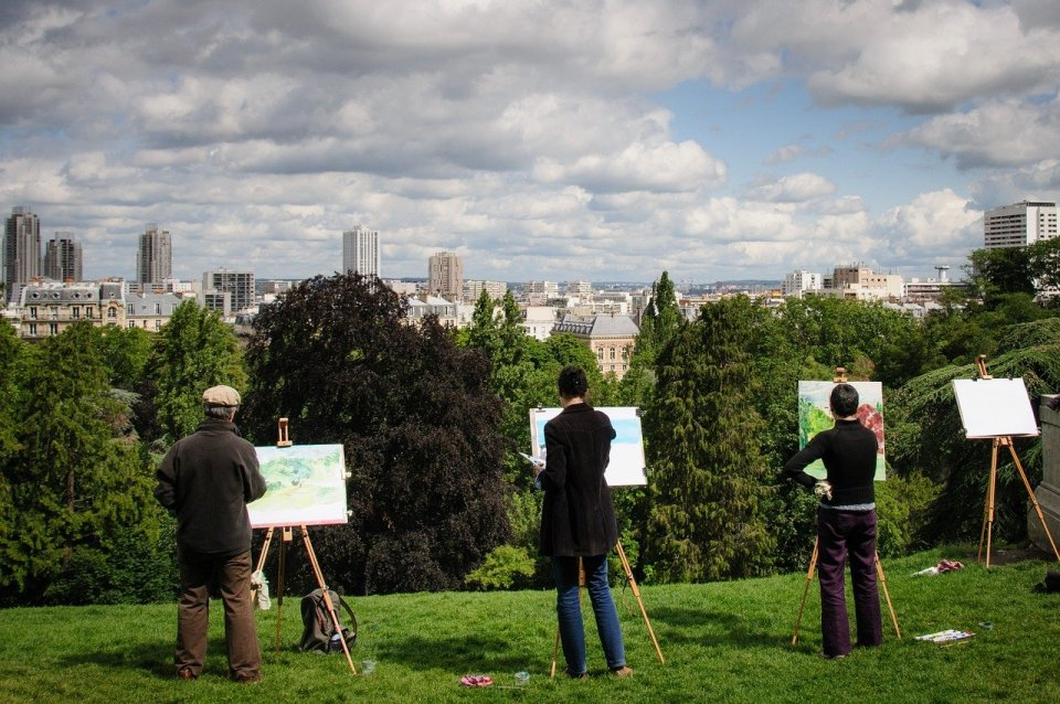 peintres confirmés peindre sur le vif en plein air