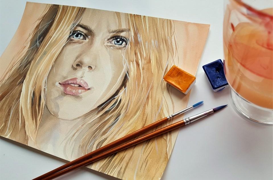 portrait à l'aquarelle de Martina Bulková