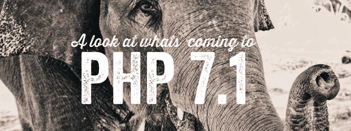 PHP 7.1 : Bilan un an après la sortie de PHP 7.0 1