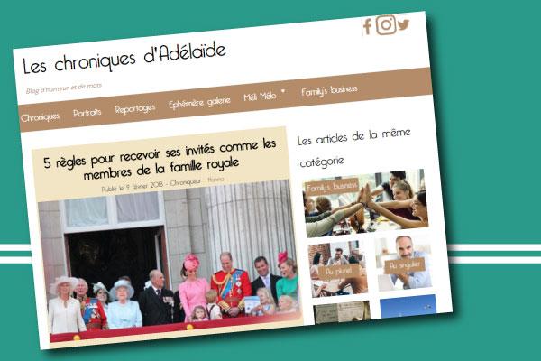 chronique-adélaïde articles invités chez Les Chroniques d'Adélaïde expert spécialiste coach bonnes manières étiquette protocole
