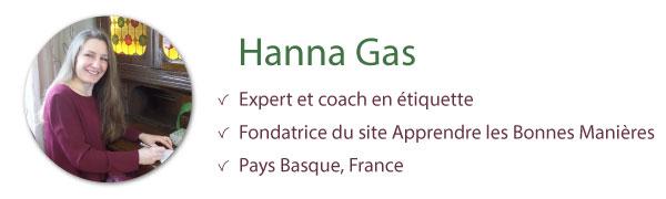 hanna gas expert coach en étiquette bonnes manières savoir-vivre politesse usages bienséance protocole