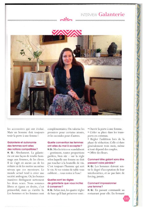 Mon interview dans Les Cultissimes au sujet de la galanterie moderne