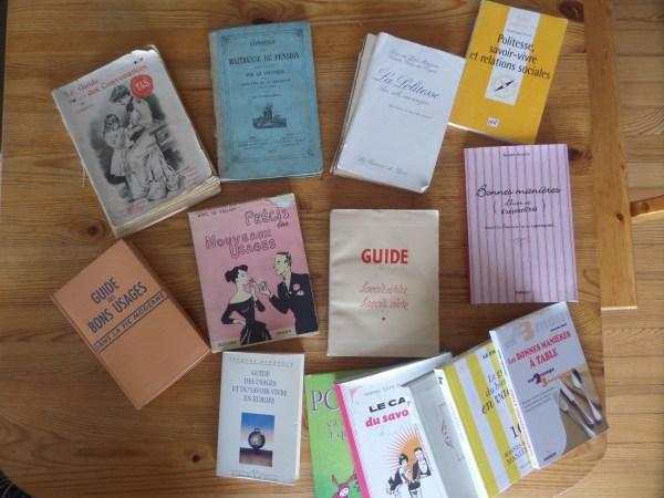 mes manuels de savoir-vivre etiquette politesse usages codes guide livre ouvrage biensénace courtoisie galanterie protocole bonnes manières aristocratie vintage ancien vieux