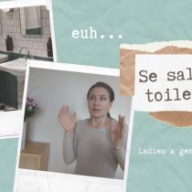 Saluer aux toilettes : ...euh ? ...je dis quoi ?