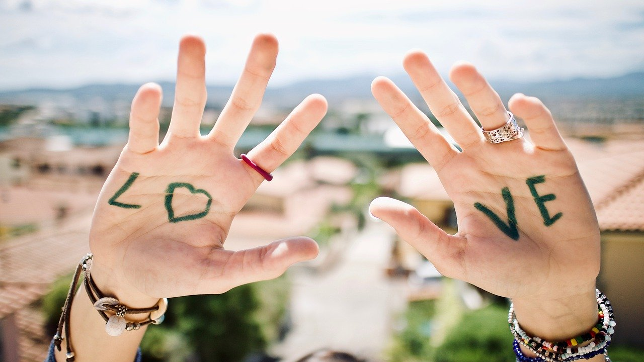 hands, message, love