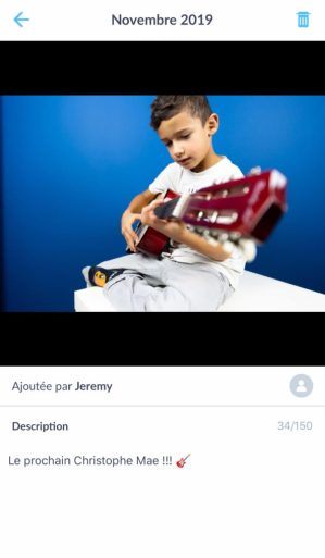 Ajout commentaire journal photo Neveo