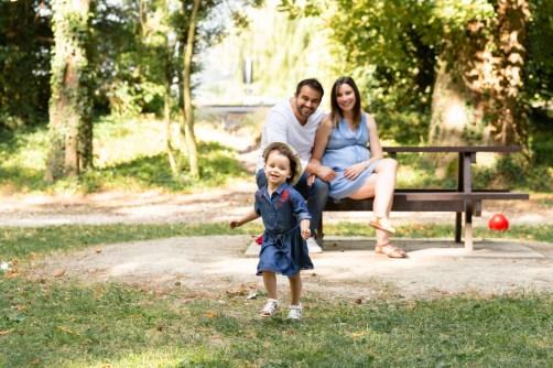 Photo de famille montrant l'utilisation de la vitesse d'obturation