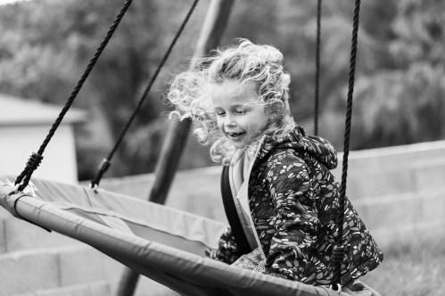 Photo d'enfant en mouvement avec le mode Priorité Ouverture