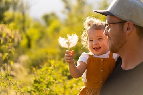 Photo père / fille en mode Priorité Ouverture