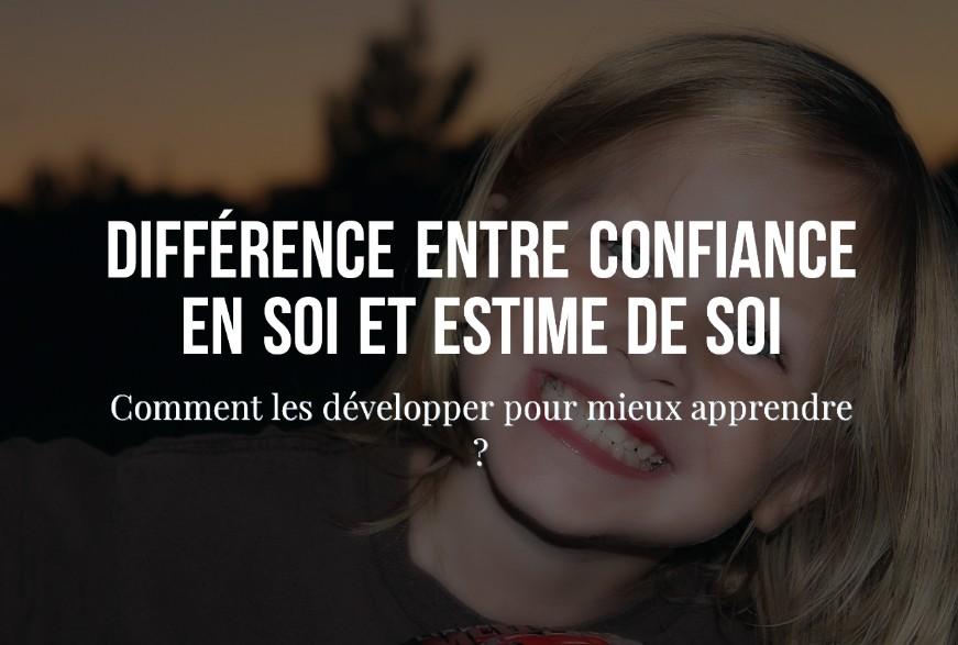 Différence Entre Confiance En Soi Et Estime De Soi Comment