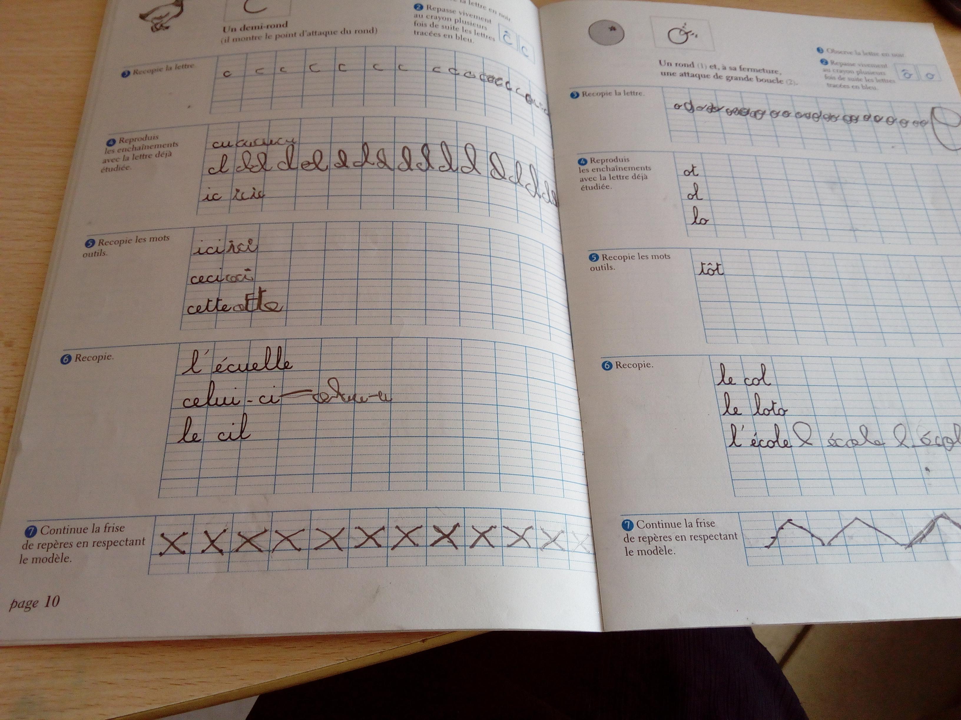 cahier apprentissage écriture dumont