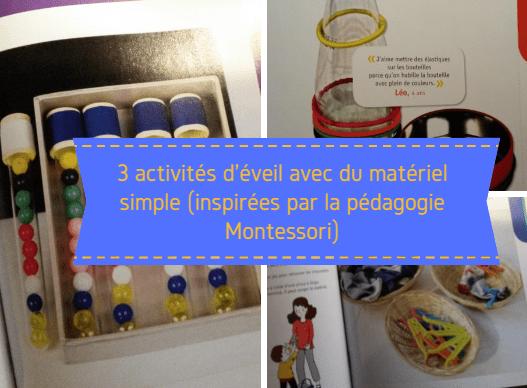 activités simples montessori à faire soi même