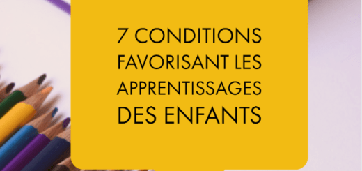 conditions apprentissages enfants