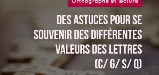 valeurs différentes lettres