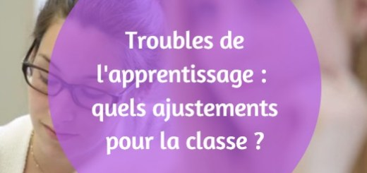 troubles de l'apprentissage ajustement classe