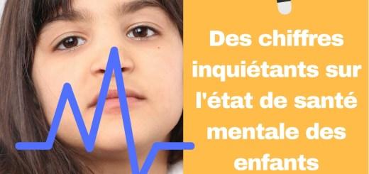 Des chiffres inquiétants sur l'état de santé mentale des enfants