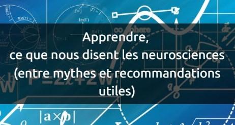 apprendre ce que nous disent les neurosciences