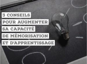 augmenter capacité de mémorisation apprentissage