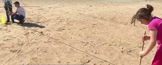 vidéo maths à la plage
