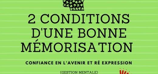 conditions bonne mémorisation