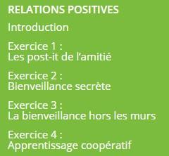 relations positives élèves école