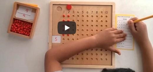 tableau de multiplication montessori