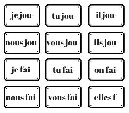 un jeu de conjugaison pour r viser les terminaisons du pr sent verbes irr guliers. Black Bedroom Furniture Sets. Home Design Ideas