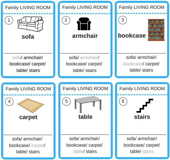 jeu 7 familles apprendre anglais