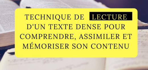Technique lecture texte dense comprendre mémoriser son contenu