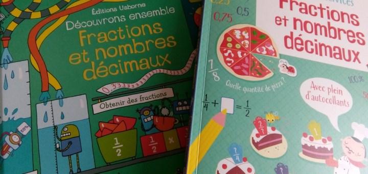 cahier entrainement fractions nombres decimaux