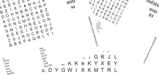 mots mêlés lecture sons complexes