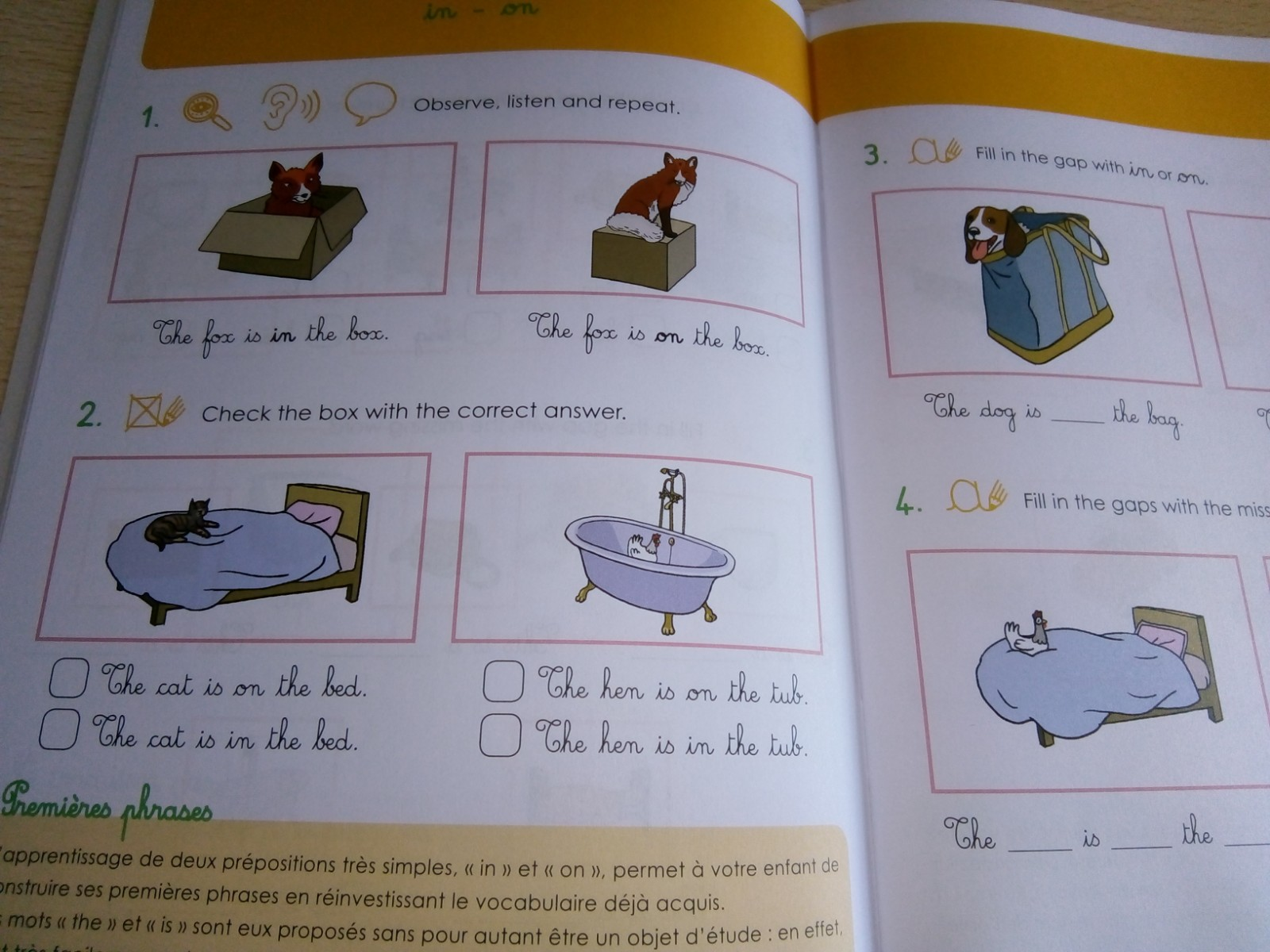cahier petits montessori anglais
