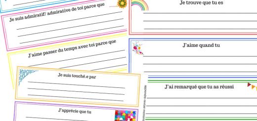 cartes de reconnaissance positive classe