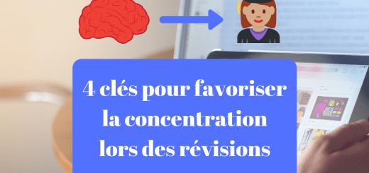 favoriser la concentration lors des révisions
