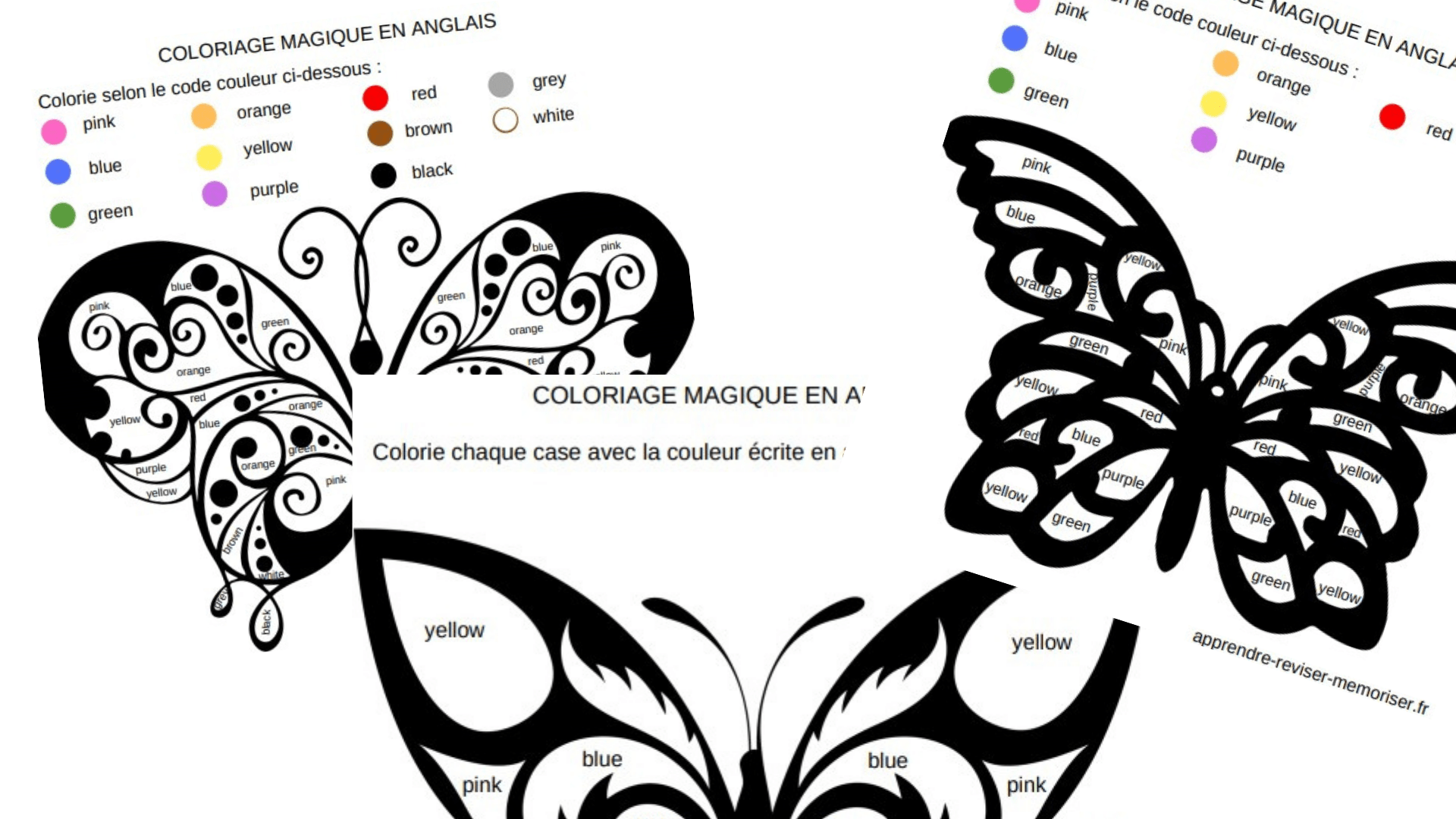 Coloriage Magique Anglais Vetements.3 Coloriages Magiques En Anglais Pour Apprendre Les Couleurs
