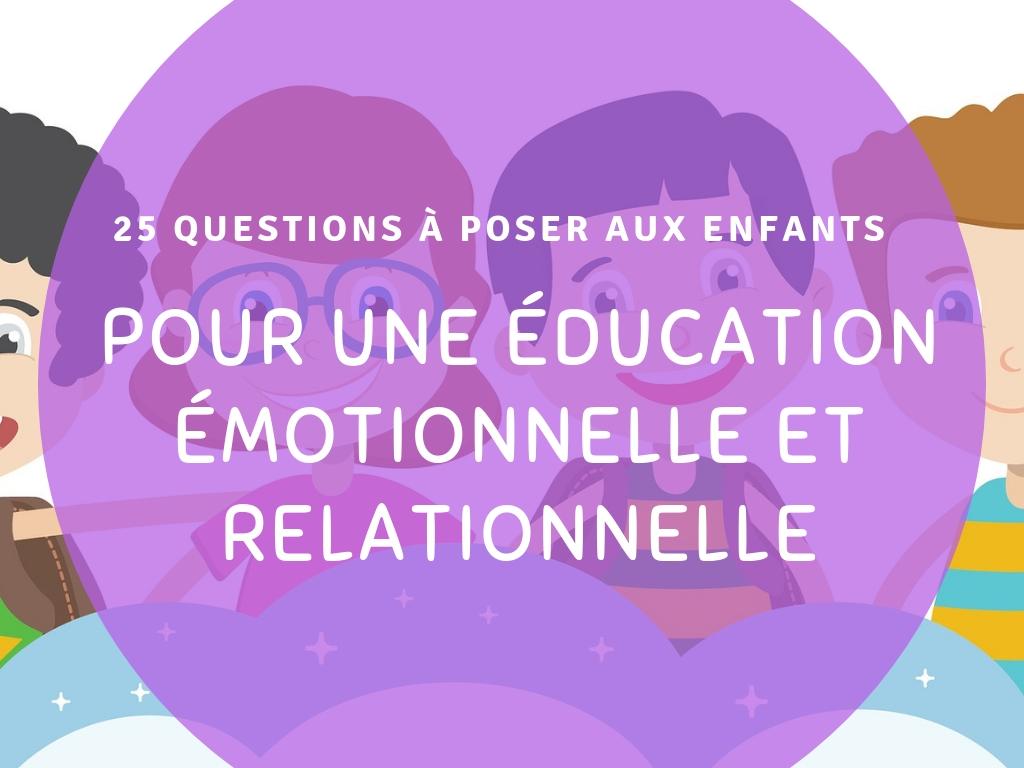 éducation émotionnelle et relationnelle