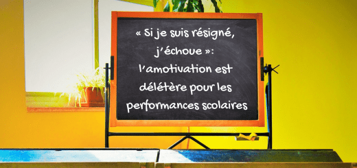 amotivation performances scolaires