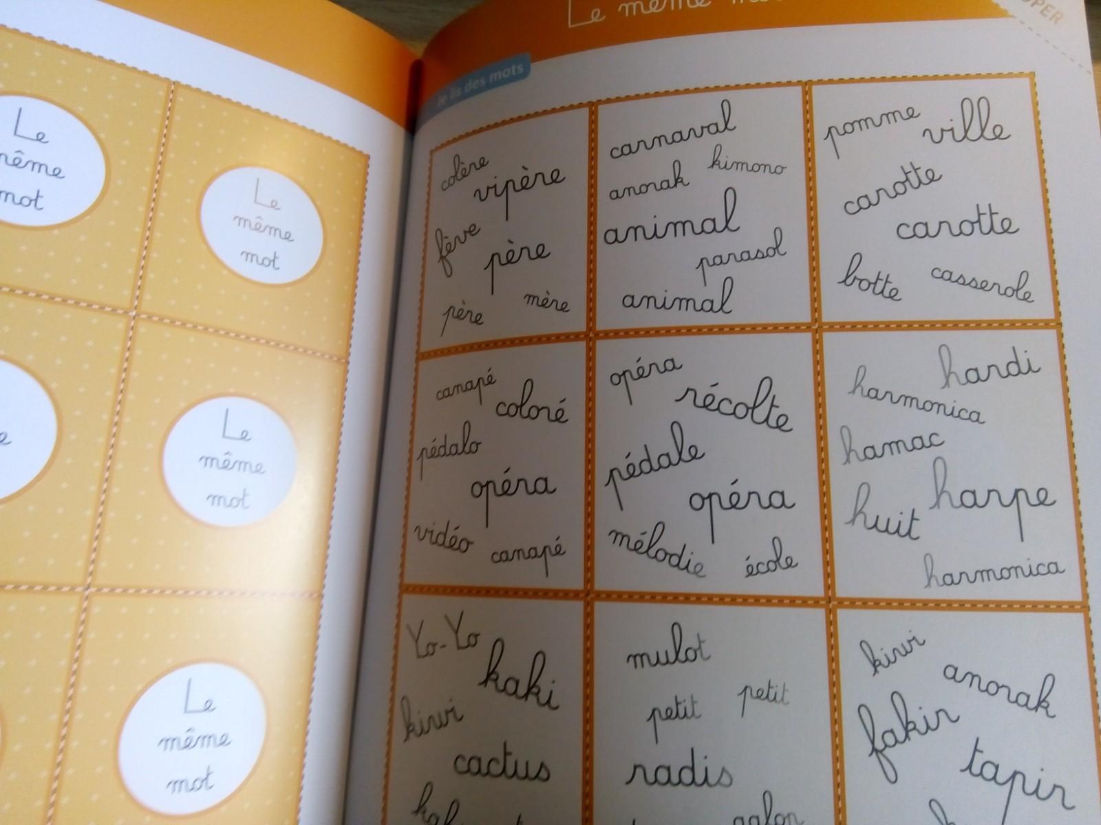 cahier d'activités montessori de lecture enfants