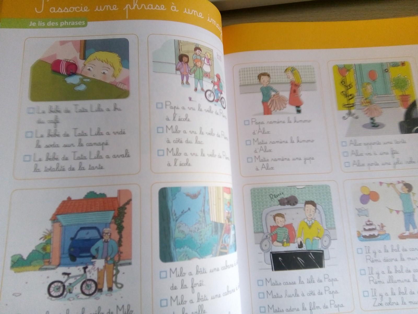 cahier montessori de lecture