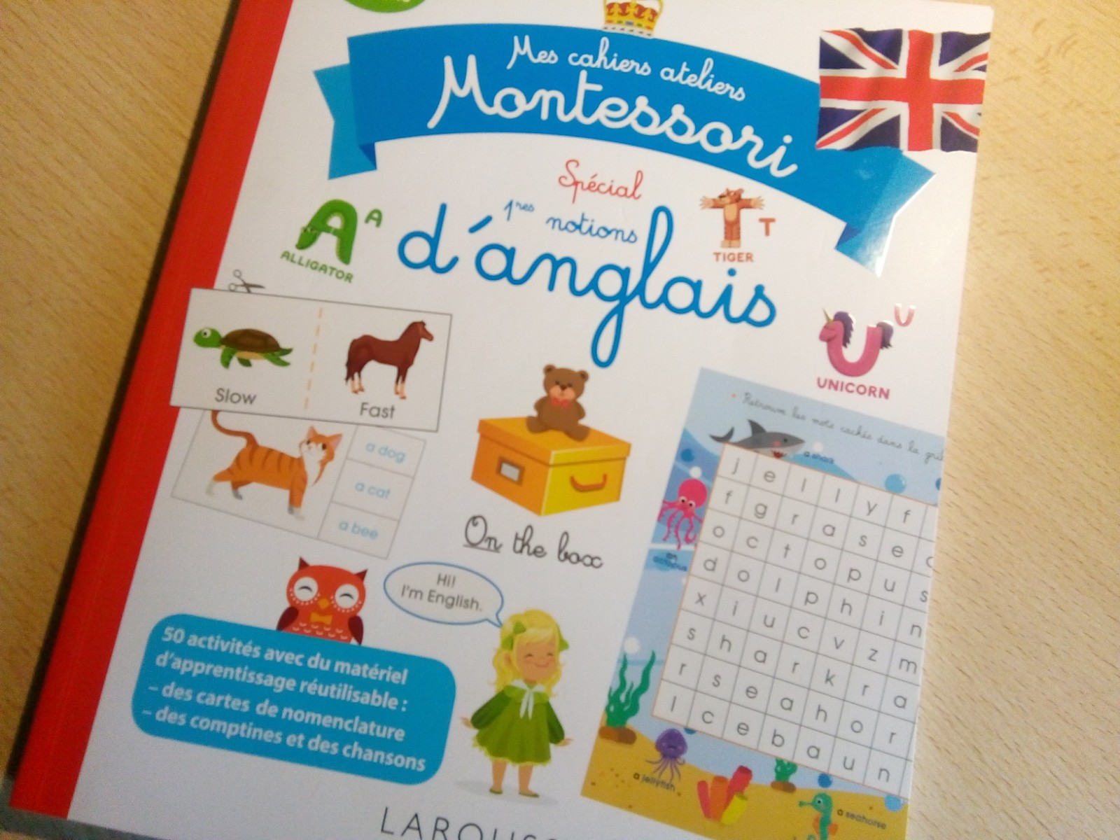 livre activités anglais montessori